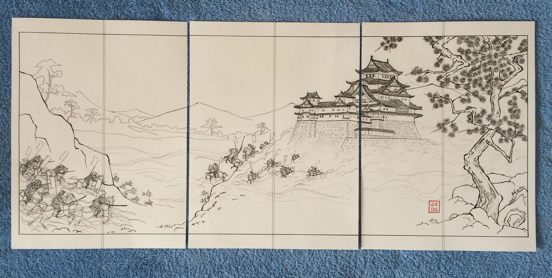 Samurai Attack In Japan ink finished