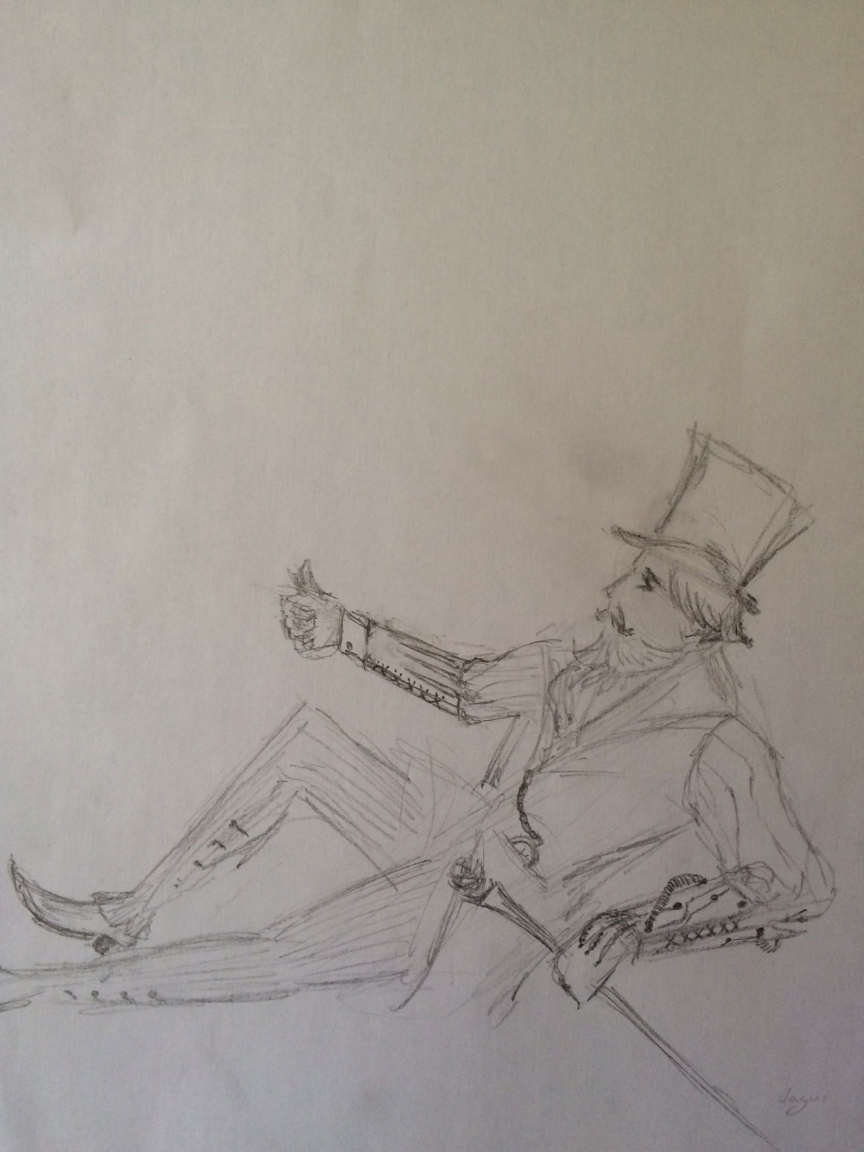 Steampunk Dejeuner In Japan sketch 4